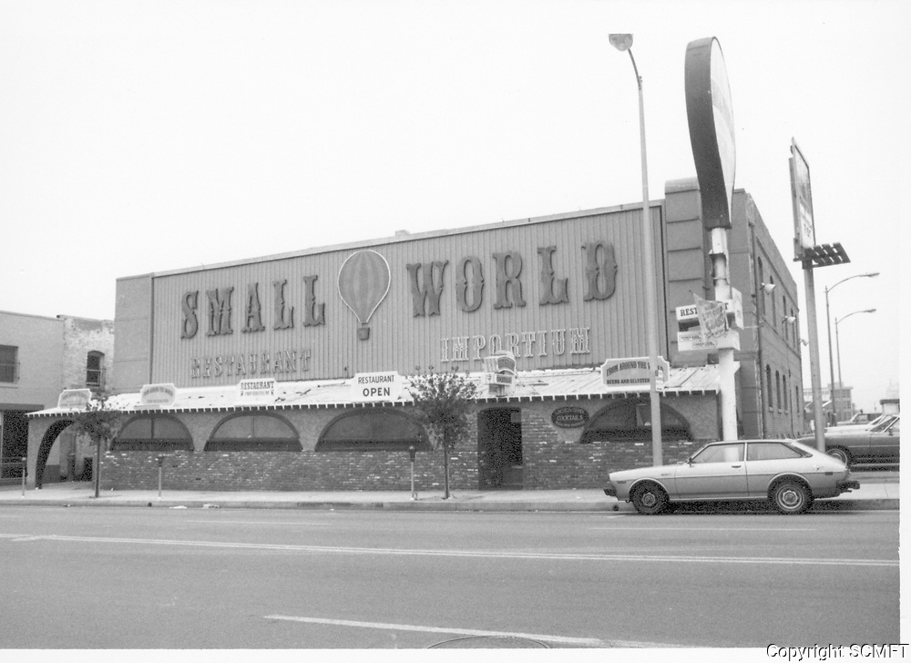 1978 Small World Restaurant on Cahuenga Blvd.