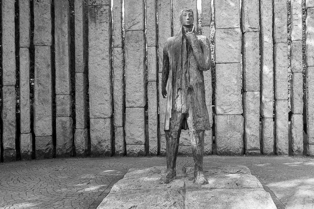 Wolfe Tone statue at St. Stephen's Green, Dublin, Ireland.