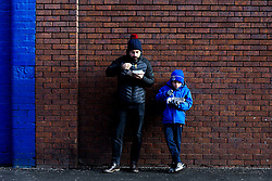 Everton fans eat chips outside Goodison Park, for their team's Premier League fixture against Wolverhampton Wanderers - Mandatory by-line: Robbie Stephenson/JMP - 02/02/2019 - FOOTBALL - Goodison Park - Liverpool, England - Everton v Wolverhampton Wanderers - Premier League