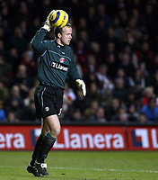 Photo: Chris Ratcliffe.<br /> Charlton Athletic v Liverpool. The Barclays Premiership. 08/02/2006.<br /> Thomas Mhyre in the Charlton goal