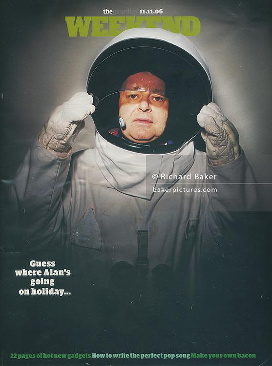 Virgin Galactic astronaut cover, for Guardian Weekend Magazine, London