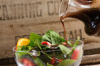 Spinach strawberry salad and dressing