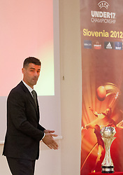 Marko Simeunovic during the Final Round Draw of 11th UEFA European U17 Championship 2011/12, on April 4, 2012, in Ljubljana, Slovenia. (Photo by Vid Ponikvar / Sportida.com)