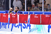 Buscaglia Maurizio, Alessandro Frosini<br /> Happy Casa Brindisi - Grissin Bon Reggio Emilia<br /> Legabasket SerieA  2019-2020<br /> Brindisi 26/12/19<br /> Foto: Ciamillo-Castoria / Michele Longo