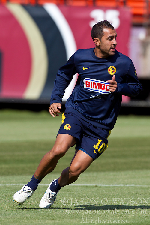 August 3, 2010; San Francisco, CA, USA;  Club America midfielder Daniel Montenegro (10) practices at Candlestick Park a day before their match with Real Madrid.