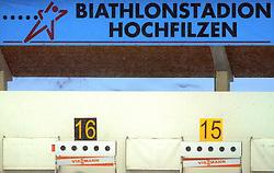 Targets at Women 15 km Individual at E.ON Ruhrgas IBU World Cup Biathlon in Hochfilzen (replacement Pokljuka), on December 18, 2008, in Hochfilzen, Austria. (Photo by Vid Ponikvar / Sportida)