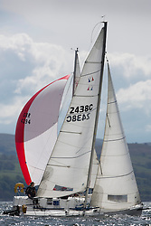 RWYC's Savills Kip Regatta  9-10th May 2015 <br /> Excellent conditions for the opening racing of the Clyde Season<br /> <br /> Class 4's, GBR2438, Elektra, Alastair Dean<br /> <br /> Credit : Marc Turner / PFM