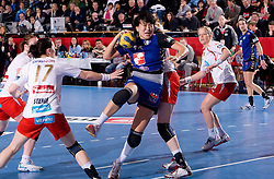 Ljudmila Bodnjeva of Krim during 3rd Main Round of Women Champions League handball match between RK Krim Mercator, Ljubljana and Larvik HK, Norway on February 19, 2010 in Arena Kodeljevo, Ljubljana, Slovenia. Larvik defeated Krim 34-30. (Photo by Vid Ponikvar / Sportida)
