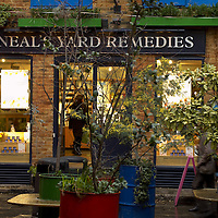 Shops in Neal's Yard, Covent Garden area, London