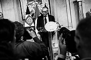 Carlo Cottarelli addresses a press conference at the Qurinale presidential palace on May 28, 2018 in Rome after Italian President gave him mandate to form a government. Rome 28 May 2018. Christian Mantuano / OneShot