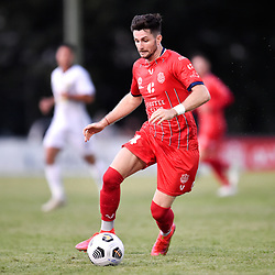 BRISBANE, AUSTRALIA - MARCH 7:  during the NPL Queensland Senior Men's Round 1 match between Olympic FC and Gold Coast United on March 7, 2021 in Brisbane, Australia. (Photo by Patrick Kearney)