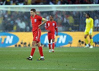 A Dejected Steven Gerrard after Germany's 4th goal<br /> England World Cup 2010<br /> Germany V England (4-1) 27/06/10 Round Of 16<br /> FIFA World Cup 2010<br /> Photo Robin Parker Fotosports International