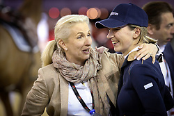 Lacrimoso 's owner Emmanuelle Perron Pette and former rider Katharina Offel<br /> CSI 5* Longines Hong Kong Masters 2013<br /> © Hippo Foto - Counet Julien