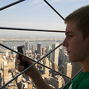 The view from the observation deck at the Empire State Building in New York.