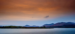 Sunset over Duart Castle, Isle of Mull, Scotland<br /> <br /> (c) Andrew Wilson | Edinburgh Elite media