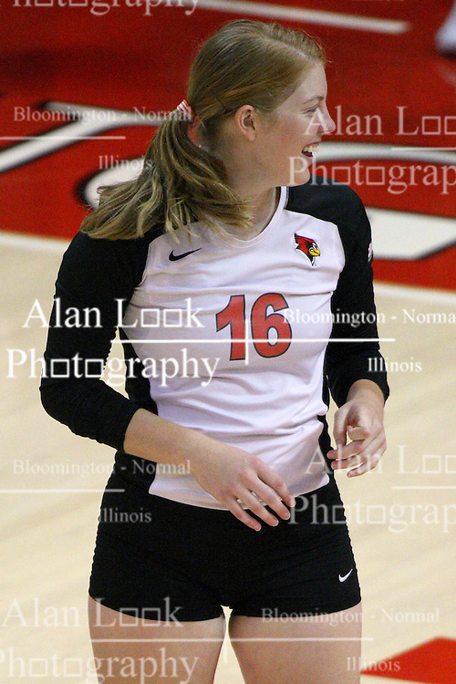 01 September 2012:  Shannon McGlaughlin during an NCAA womens volleyball match between the Oregon State Beavers and the Illinois State Redbirds at Redbird Arena in Normal IL
