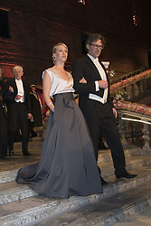 Jennie Fridolin, Philipp Haug <br /> <br />  <br /> <br />  beim Nobelbankett 2016 im Rathaus in Stockholm / 101216 <br /> <br /> <br /> <br /> ***The Nobel banquet, Stockholm City Hall, December 10th, 2016***