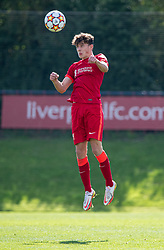 LIVERPOOL, ENGLAND - Wednesday, September 15, 2021: Liverpool's Owen Beck during the UEFA Youth League Group B Matchday 1 game between Liverpool FC Under19's and AC Milan Under 19's at the Liverpool Academy. Liverpool won 1-0. (Pic by David Rawcliffe/Propaganda)
