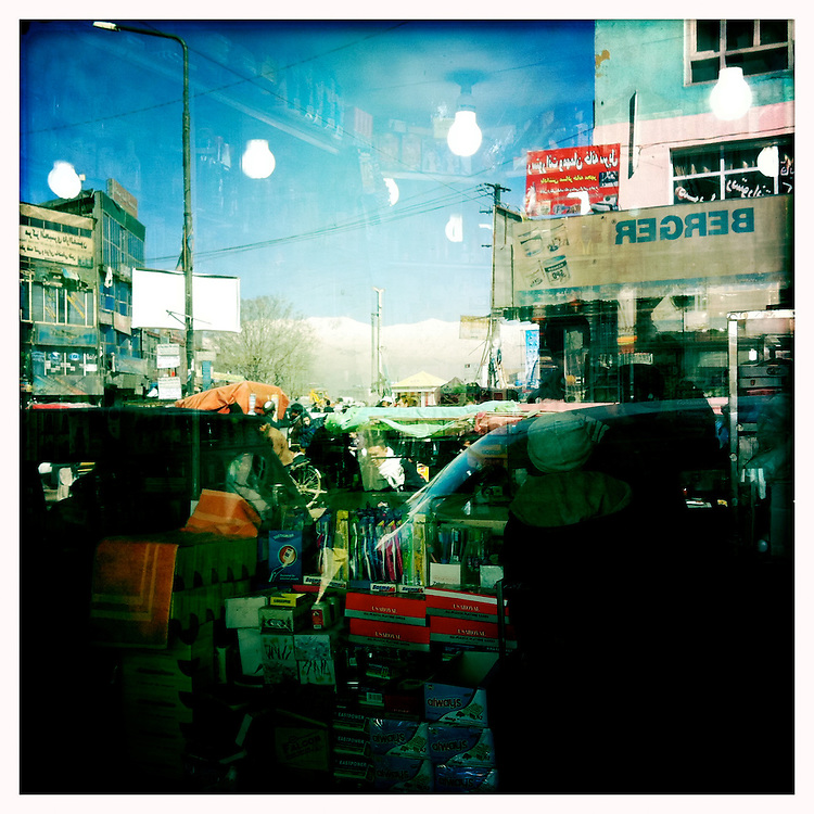Reflections in a shop window.