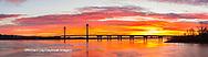 63895-15902 Clark Bridge at sunrise Alton IL