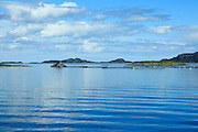Fish faming small islands south of Trondheim, Sor-Trondelag county, Norway