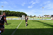 Benji Marshall runs onto the field.<br /> 2020 NRL Round 02 - Wests Tigers v Newcastle Knights, Leichhardt Oval, 22 March 2020. Digital image by Robb Cox © NRL Photos.