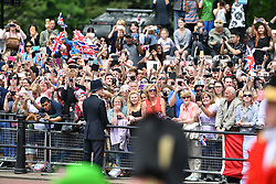 © Licensed to London News Pictures. 11/06/2016. London, UK. Members of the Royal family attend Trooping The Colour ceremony in London. This years event is part of a weekend of celebration to mark the 90th birthday of Queen Elizabeth II, who is Britain's longest reigning monarch. Photo credit: Ben Cawthra/LNP