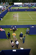 Spectators watching Veronica Cepede Royg of Paraguay during the Women's Singles Quarter Final at the Fuzion 100 Ilkley Lawn Tennis Trophy Tournament held at Ilkley Lawn Tennis and Squad Club, Ilkley, United Kingdom on 19 June 2019.