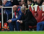 Arsenal's Arsene Wenger looks at his watch<br /> <br /> Barclays Premier League- Arsenal vs Manchester United - Emirates Stadium - England - 22nd November 2014 - Picture David Klein/Sportimage