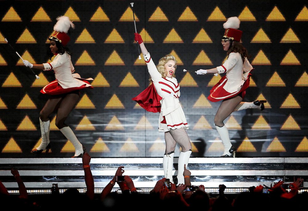 Madonna performs at Xcel Energy Center in St. Paul November 3, 2012.