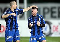 Fotball , 26. oktober 2008 , Tippeligaen , Eliteserien , Stabæk - Vålerenga 4-2<br /> <br /> <br /> Pontus Farnerud og Veigar Pall Gunnarsson , Stabæk