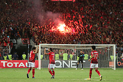 November 2, 2018 - Alexandria, Egypt - Al-Ahly Players celebrate after scoring a goal during their first leg of Final African Champions League CAF match Between Al Ahly and Esperance de Tunis at Borg Al Arab Stadium,on 2 November, 2018. (Credit Image: © Ahmed Awaad/NurPhoto via ZUMA Press)