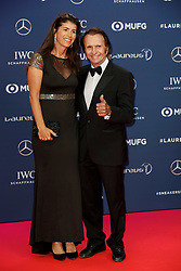 Laureus Academy Member Emerson Fittipaldi and guest arriving to the Laureus Sports Awards 2019 ceremony at the Sporting Monte-Carlo in Monaco on February 18, 2019. Photo by Marco Piovanotto/ABACAPRESS.COM