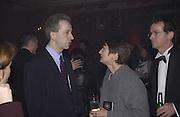 Roland Keating and the Arts minister, Tessa Jowell. Launch B.B.C. Four, Fashion St. London. © Copyright Photograph by Dafydd Jones 66 Stockwell Park Rd. London SW9 0DA Tel 020 7733 0108 www.dafjones.com