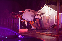 home struck by tornado in OKC metro.