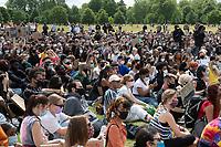 Black Lives Matter demonstration in Hyde Park London 21 june 2020 photo by Brian Jordan
