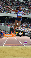 GB long jumper Shara Proctor during the Sainsbury's Anniversary Games at the Queen Elizabeth II Olympic Park, London, United Kingdom on 25 July 2015. Photo by Mark Davies.