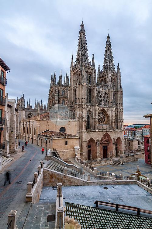 Vista general de la fachada de la Catedral de Burgos. Castilla y Leon. España. Europa ©Javier Abad / PILAR REVILLA