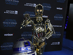 C-3PO and RD-D2 at the World premiere of Disney's 'Star Wars: The Rise Of Skywalker' held at the Dolby Theatre in Hollywood, USA on December 16, 2019.