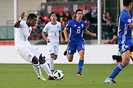 Jean Freddi Pascal Greco of Italy (16) shoots during the UEFA European Under 17 Championship 2018 match between Israel and Italy at St George's Park National Football Centre, Burton-Upon-Trent, United Kingdom on 10 May 2018. Picture by Mick Haynes.