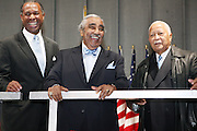 l to r: Rev., Congressman Charles Rangel and The Honorable David N. Dinkins at the Pre-Election party hosted by Congressman Charles Rangel held on the grounds of The Adam Clayton Powell State Office Building in Harlem on Election night, November 4, 2008..Democratic Presidential Candidate Barack Obama is declared victor and President-Elect as the 44th U.S. President making him the first African-American President in its 225 year history.