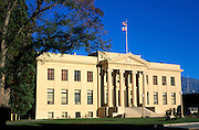 Evening light on the Inyo County Courthouse, Independence, California