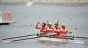 Shunyi, CHINA. CAN LM4- Bronze medalist Lightweight men's fours after the medal ceremony at the 2008 Olympic Regatta, Shunyi Rowing Course. Sun. 17.08.2008  [Mandatory Credit: Peter SPURRIER, Intersport Images]