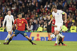 October 15, 2018 - Seville, Spain - HARRY KANE of England (R ) vies for the ball with THIAGO ALCANTARA of Spain during the UEFA Nations League Group A4 soccer match between Spain and England at the Benito Villamarin Stadium (Credit Image: © Daniel Gonzalez Acuna/ZUMA Wire)