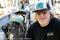 Custom builder and parts caster for his Chopper Dave's Casting Co, Chopper Dave Frestonchopp at the Born-Free Vintage Motorcycle show at Oak Canyon Ranch, Silverado, CA, USA. Sunday, June 23, 2019. Photography ©2019 Michael Lichter.