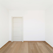 Interior, empty room of a modern house, copy space