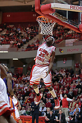 31 December 2008: No one steps in to stop the jam by Champ Oguchi.  Illinois State University Redbirds extended their record to 13-0 with an 80-50 win over the Evansville Purple Aces on Doug Collins Court inside Redbird Arena on the campus of Illinois State University in Normal Illinois