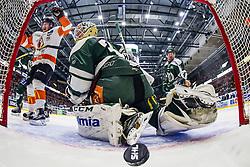 January 28, 2017 - Karlstad, Sweden - Karlskrona cheering after they score 2-3 against Farjestad's Lars Haugen during the ice hockey SHL game between Farjestad and Karlskrona.  (Credit Image: © Fredrik Karlsson/Bildbyran via ZUMA Wire)