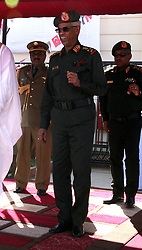 File photo dated January 24, 2016 of Defense Minister Awad Mohamed Ahmed Ibn Auf at a ceremony in Sudan. President Omar al-Bashir has been detained and a military council will run the country for a two-year transitional period, Sudan's defense minister announced Thursday, bringing an end to Bashir's 30-year reign. In a statement broadcast on state TV, Defense Minister Awad Mohamed Ahmed Ibn Auf, dressed in military fatigues, said there would be elections at the end of the transition period. Photo by Depo Photos/ABACAPRESS.COM