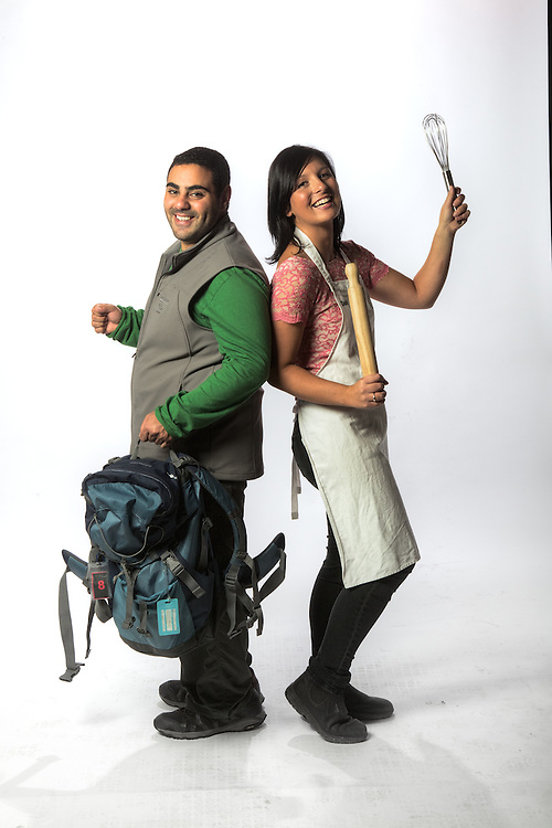 TV Contestants, Mohammed 'Mo' Elleissy, amazing race contestant & Dani Venn - masterchef contestant. Pic By Craig Sillitoe CSZ/The Sunday Age.21/03/2012  Pic By Craig Sillitoe CSZ / The Sunday Age melbourne photographers, commercial photographers, industrial photographers, corporate photographer, architectural photographers, This photograph can be used for non commercial uses with attribution. Credit: Craig Sillitoe Photography / http://www.csillitoe.com<br /> <br /> It is protected under the Creative Commons Attribution-NonCommercial-ShareAlike 4.0 International License. To view a copy of this license, visit http://creativecommons.org/licenses/by-nc-sa/4.0/.